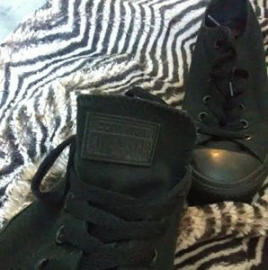 Blacked out converse